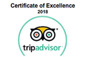 2012 - 2018 Trip Advisor certificate of excellence
