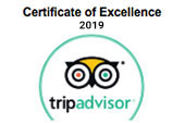 2012 - 2019 Trip Advisor certificate of excellence